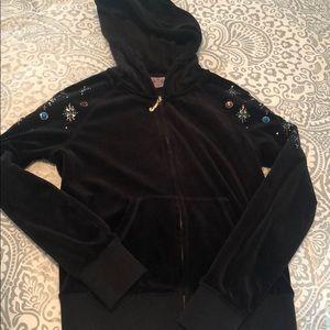 Juicy couture zip up with rhinestones!